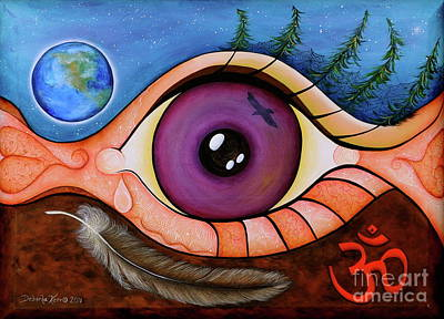 Spirit Eye Poster by Deborha Kerr