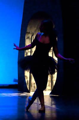 Spirit Of Dance 3 - A Backlighting Of A Ballet Dancer Poster