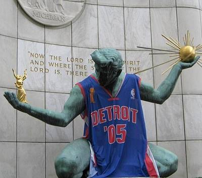 Spirit Of Detroit Piston Poster