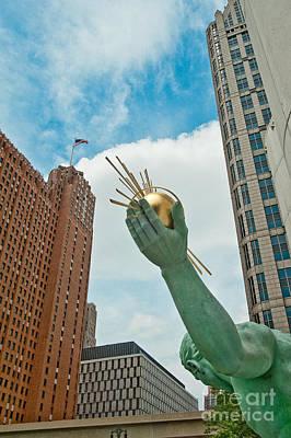 Spirit Of Detroit's Left Hand Poster