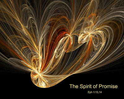 Poster featuring the digital art Spirit Of Promise by R Thomas Brass