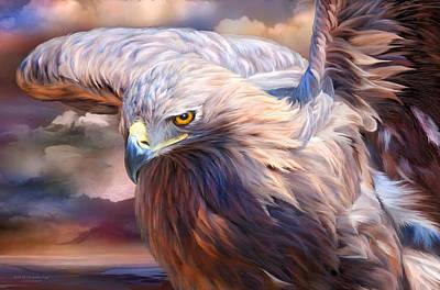Spirit Of The Golden Eagle Poster by Carol Cavalaris