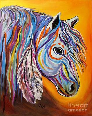 Poster featuring the painting 'spirit' War Horse by Janice Rae Pariza