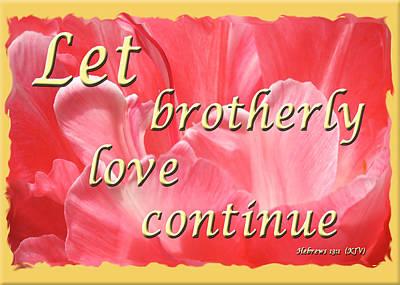 Spiritual Love - Bordered Poster