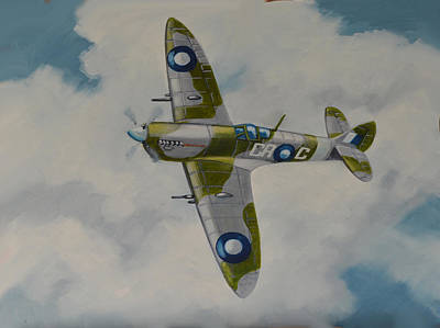 Poster featuring the painting Spitfire Mk.viii by Murray McLeod