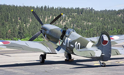 Spitfire On Takeoff Standby Poster