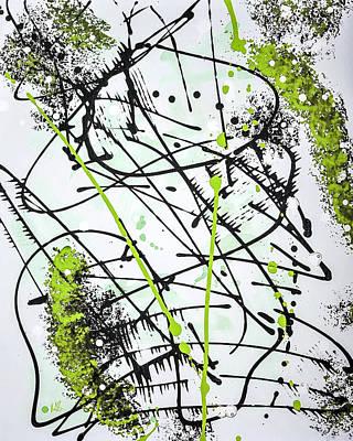 Splash Green Poster