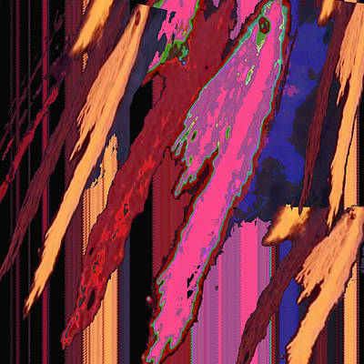 Splash Of Colors Abstract  Colors For This Art Obtained From Lava Like Photography Of Hot Tin Pourin Poster by Navin Joshi