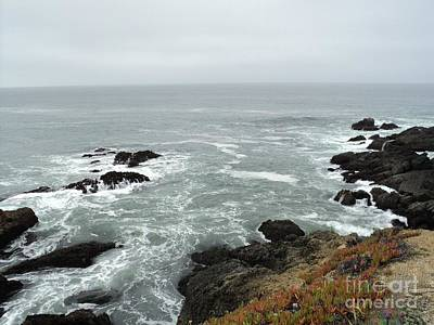 Splashing Ocean Waves Poster by Carla Carson