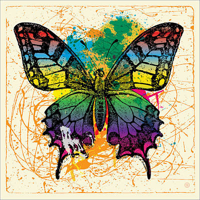 Splatter Butterfly Poster by Gary Grayson