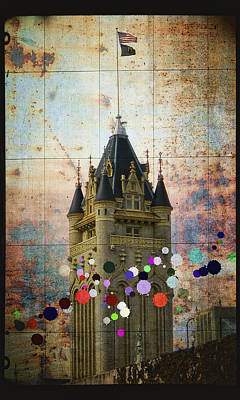 Splattered County Courthouse Poster by Daniel Hagerman