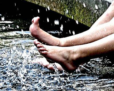 Splish Splash Poster by Lesa Fine