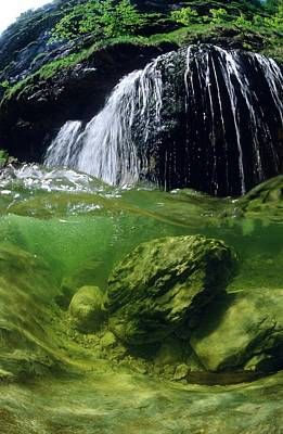 Split-picture From A Waterfall Poster by Thomas Aichinger