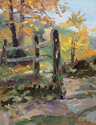 Split Rail Fence Poster by Spencer Meagher