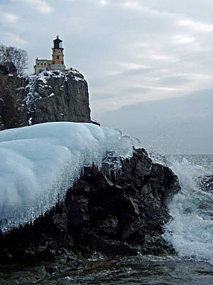 Split Rock Lighthouse Winter Poster