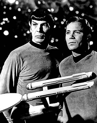 Spock And Captain Kirk Poster by Daniel Hagerman