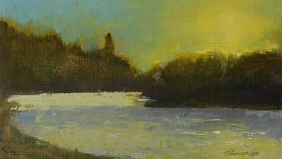 Spokane River Study Number Two Poster by Terry Gonzales Fine Art