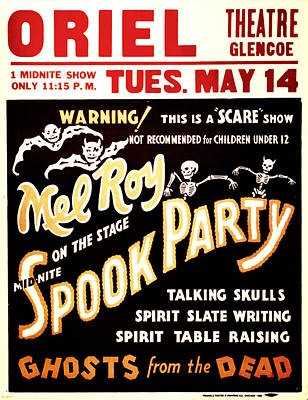 Spook Party Poster by Jennifer Rondinelli Reilly - Fine Art Photography