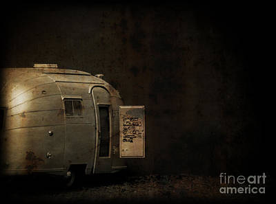 Spooky Airstream Campsite Poster by Edward Fielding