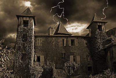 Spooky Chateau Poster