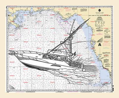 Sport Fishing Off The Gulf Coast Poster