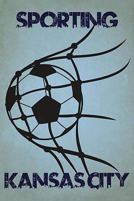 Sporting Kansas City Goal Poster by Joe Hamilton