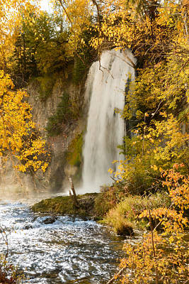 Spray Rises From Spearfish Falls Poster