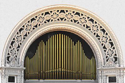 Spreckels Organ Balboa Park San Diego Poster by Christine Till