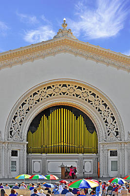 Spreckles Organ San Diego Poster by Christine Till