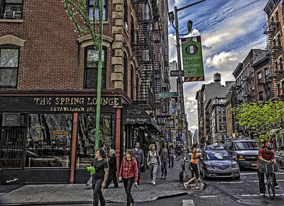 Spring And Mulberry - Street Scene - Nyc Poster