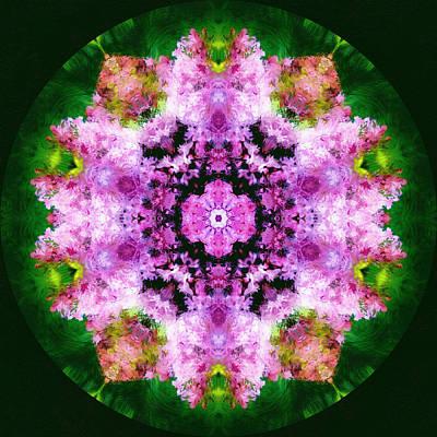 Spring Bouquet Modern Mandala Poster by Georgiana Romanovna