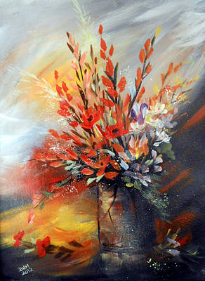 Poster featuring the painting Spring Branches by Dorothy Maier