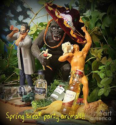 Spring Break Party Animals Poster by John Malone
