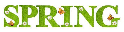 Spring Butterflies Poster by Amanda Elwell