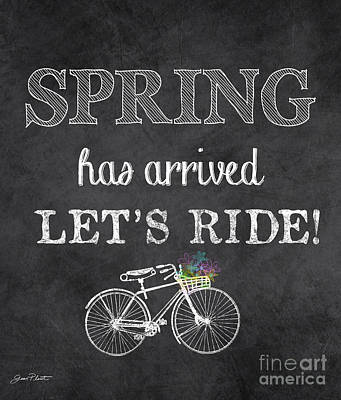 Spring Chalkboard Art-10 Poster by Jean Plout