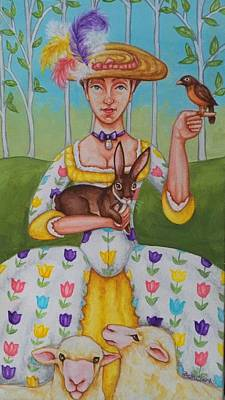 Spring Colonial Poster by Beth Clark-McDonal