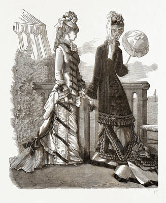 Spring Costumes, 19th Century Fashion Poster