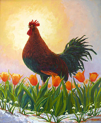 Poster featuring the painting Spring Fever by Karen Mattson