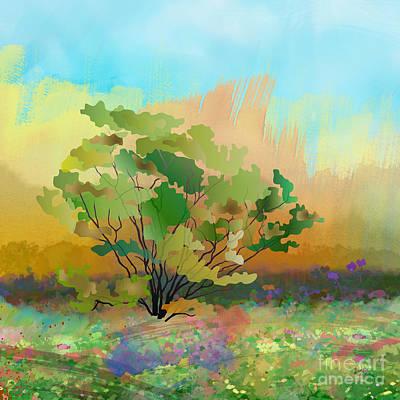 Spring Field Poster by Bedros Awak
