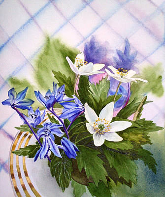 Spring Flowers Poster by Irina Sztukowski
