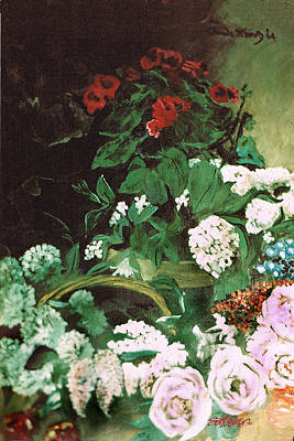 Spring Flowers Study Of Monet Poster by Seth Weaver
