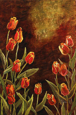 Poster featuring the painting Spring Garden II by Vic  Mastis