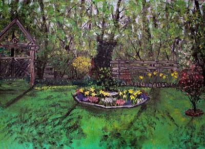 Poster featuring the painting Spring Garden by Judy Via-Wolff