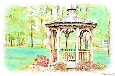 Spring Gazebo Series - Digital Paint IIi Poster by Debbie Portwood