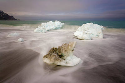 Spring Glacial Ice Along St Andrews Bay Poster