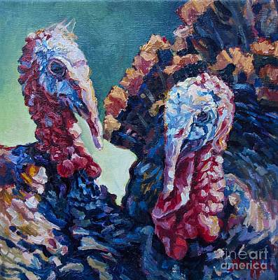 Spring Gobblers Poster by Patricia A Griffin