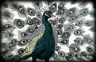 Spring Green Peacock Poster