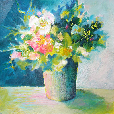 Spring Green Posy Poster by Susanne Clark