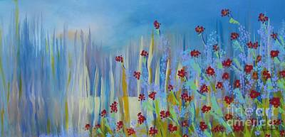 Poster featuring the painting Spring Illusion by Nereida Rodriguez