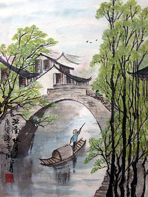 Poster featuring the photograph Spring In Ancient Watertown by Yufeng Wang